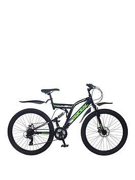 Image of Bronx Bolt Dual Suspension Mens Mountain Bike 18 inch Frame, Black/Green, Men