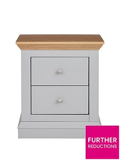 Ideal Home New Hannah 2 Drawer Bedside