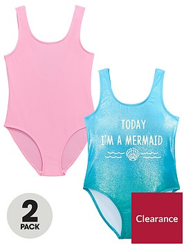 v-by-very-pack-of-2-girls-mermaid-shimmer-swimsuits-ndash-pinkblue