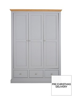 Ideal Home New Hannah 3 Door 3 Drawer Robe