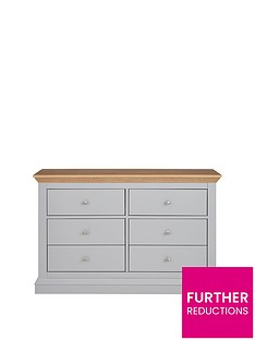 Ideal Home New Hannah 3 + 3 Drawer Chest