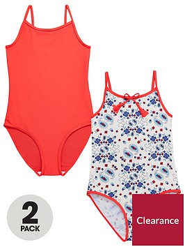 v-by-very-pack-of-2-girls-swimsuits-ndash-redpaisley