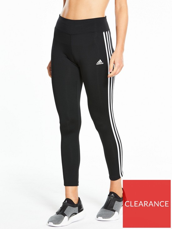 c76702bd adidas D2M 3 Stripe Tights - Black | very.co.uk