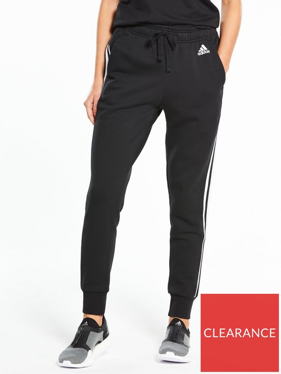 6e42d4c370267 adidas Essentials 3 Stripe Tapered Pants - Black | very.co.uk