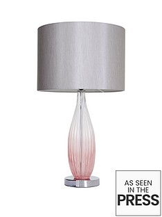 michelle-keegan-home-pink-ombre-glass-table-lamp