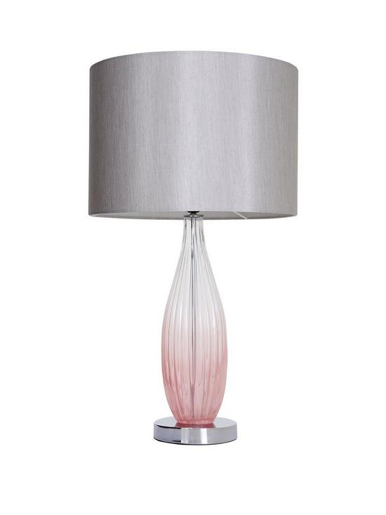 Michelle Keegan Home Pink Ombre Glass Table Lamp | Very.co.uk