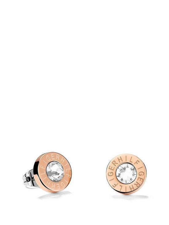 f4b3be92 Tommy Hilfiger Ladies Rose Gold IP Stainless Steel Earrings | very.co.uk