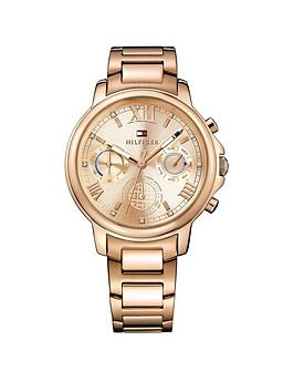 tommy-hilfiger-rosenbspgold-tone-stainless-steel-chronograph-ladies-watch