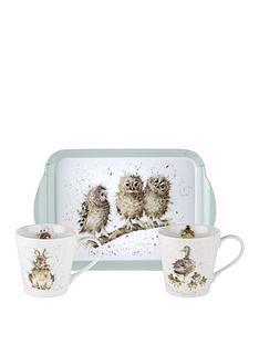 royal-worcester-wrendale-mug-and-tray-set