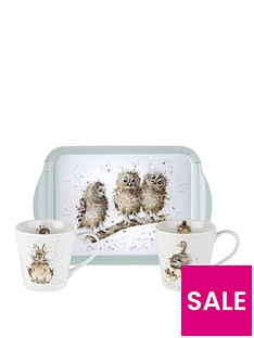 royal-worcester-wrendale-mug-and-tray-set