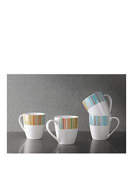 portmeirion-coral-stripe-mugs-set-of-4