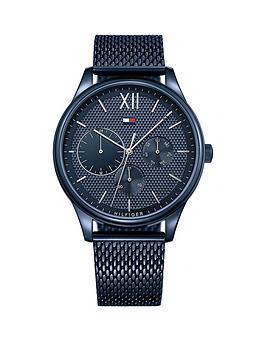 Tommy Hilfiger 1791421 Damon Blue Mesh Bracelet Mens Watch thumbnail