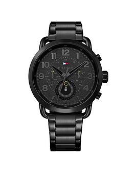 Tommy Hilfiger Tommy Hilfiger Black Multidial Stainless Steel Bracelet Mens Watch thumbnail