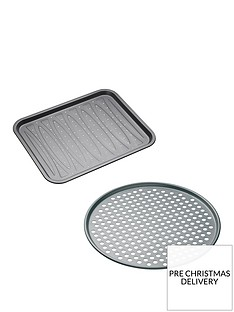 masterclass-non-stick-crisper-and-pizza-tray-set