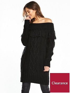 v-by-very-fringe-bardot-chunky-cable-knit-tunic