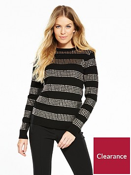 v-by-very-stud-stripe-detail-jumper
