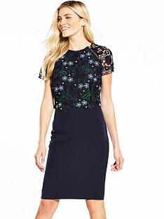 phase-eight-margo-lace-dress-midnight