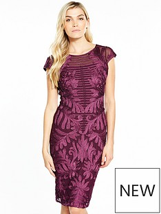 phase-eight-trini-tapework-dress-magenta