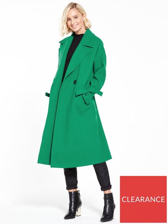 Vero Moda Siena Coat - Pepper Green  edd857cc30