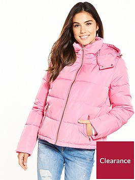 miss-selfridge-hooded-oversize-paddednbspjacket-pink
