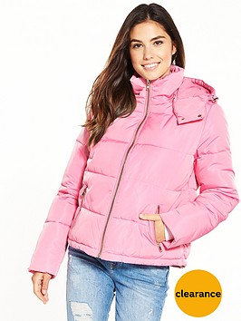 miss-selfridge-hooded-oversize-paddednbspjacket-pink