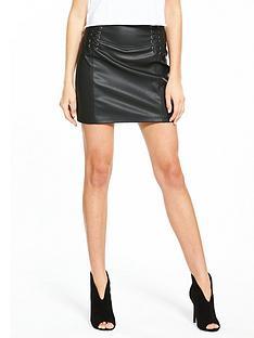 miss-selfridge-pu-corset-detail-skirt-blacknbsp
