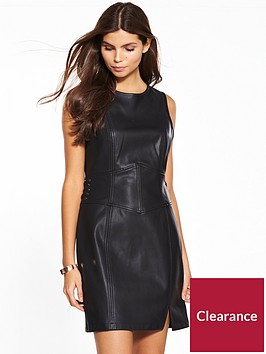 miss-selfridge-pu-corset-dress
