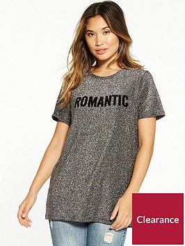 vero-moda-sigrid-glitter-long-t-shirt-silver