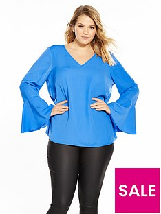 junarose-pi-long-sleeve-v-neck-blouse-palace-blue