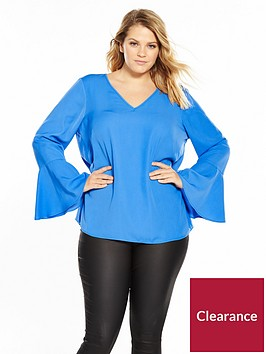 junarose-pi-long-sleeve-v-neck-blouse-palace-blue
