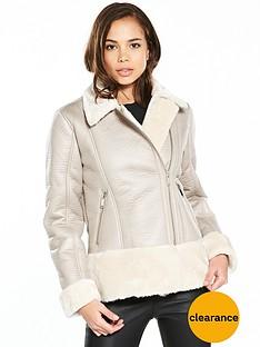 miss-selfridge-shearling-biker-jacket