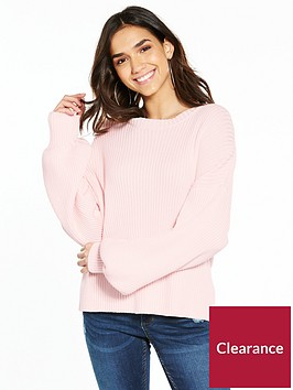 noisy-may-vette-long-sleeve-knit-peach