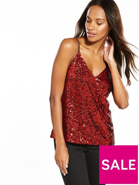 Vero Moda Glamour Singlet Sequin Cami Top, Women