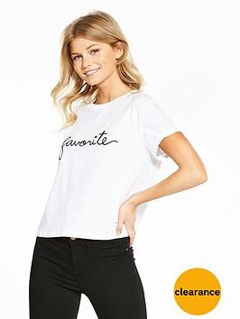 miss-selfridge-petite-favourite-slogan-t-shirt-white