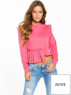 miss-selfridge-petite-deconstructed-sweater-pinknbsp