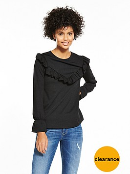 v-by-very-v-frill-front-top-black