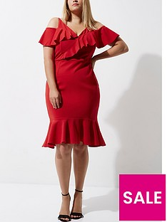 ri-plus-frill-midi-dress
