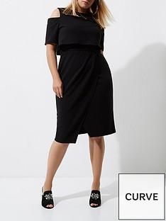 ri-plus-cold-shoulder-midi-dress