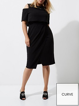 ri-plus-cold-shoulder-midi-dress