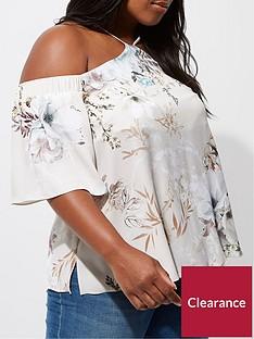 ri-plus-grey-floral-cold-shoulder-top