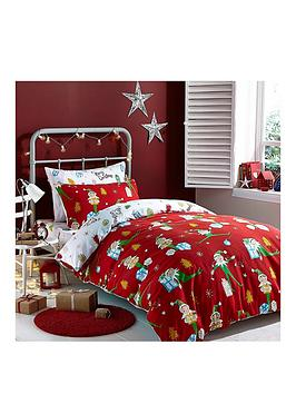 catherine-lansfield-shelfie-elfie-christmas-duvet-cover-set