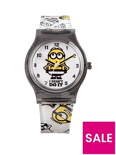 despicable-me-3-despicable-me-3-pink-dial-black-strap-analogue-kids-watch