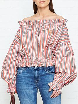 vivienne-westwood-anglomania-ruffle-art-chemise-blouse-orange