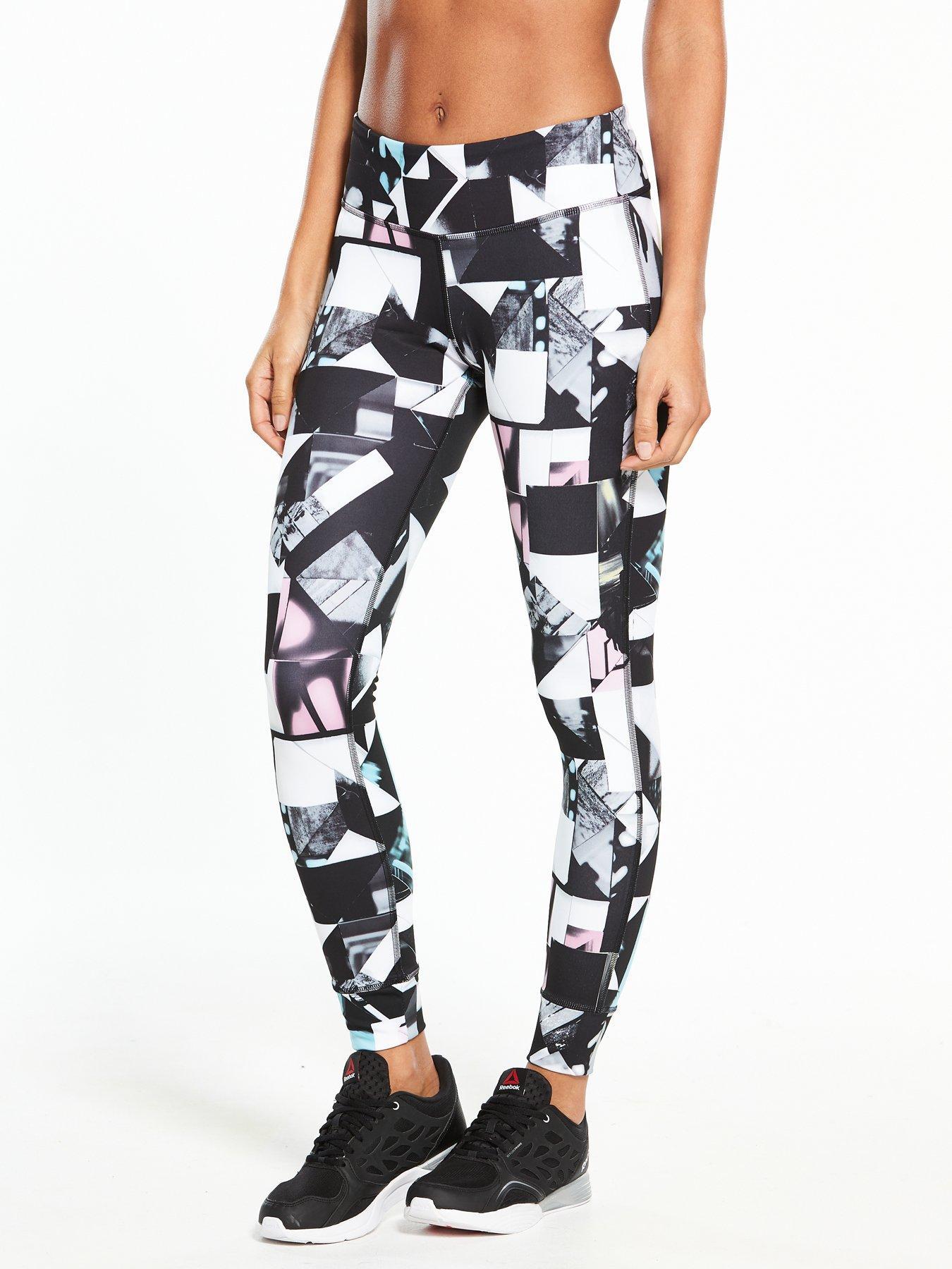 reebok leggings. reebok lux training tights - black leggings