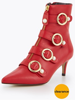 carvela-sparky-leather-buckle-ankle-boot-red