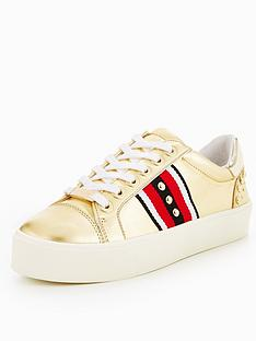 carvela-lax-gold-leather-trainer