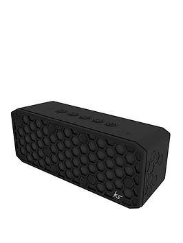 Kitsound Hive X Bluetooth Wireless Bluetooth Water Resistant Speaker With Usb Device Charging Ability And Up To 20 Hours Play Time
