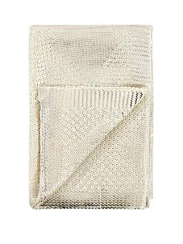 michelle-keegan-home-metallic-diamond-knitted-throw