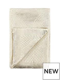 michelle-keegan-metallic-diamond-knitted-throw