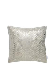michelle-keegan-home-metallic-diamond-knitted-cushion